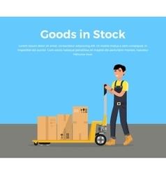 Goods in Stock Banner Design Flat vector image vector image