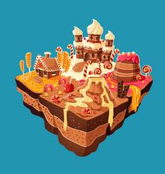 isometric sweet island vector image
