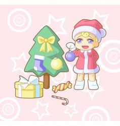 new year Santa Hawaii vector image vector image