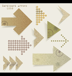 Vintage old paper arrows vector image vector image