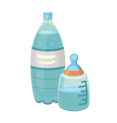 bottle of water icon in cartoon style vector image