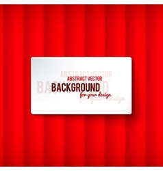 Bright red stripes background with label vector image vector image