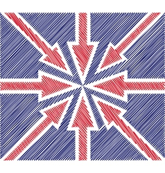 Britain abstract flag vector image