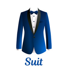 dark blue man suit isolated on white background vector image
