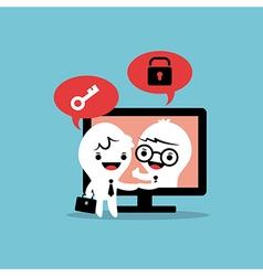 E-commerce deal business cartoon vector
