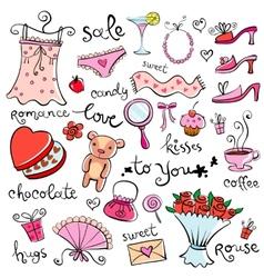 Gift Ideas for girl vector image