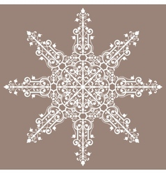 Vintage background ornament lace star vector image vector image