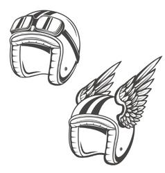 Baker helmet with wings Design element for logo vector image