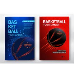 basketball tournament poster vector image vector image