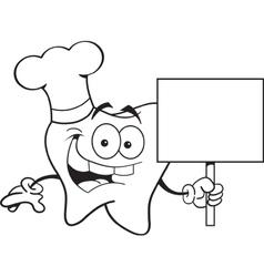Cartoon Chef Tooth vector image vector image