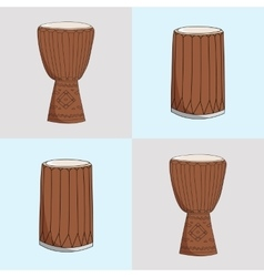 Djembe and dunumba vector
