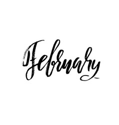 hand drawn typography lettering february month vector image vector image