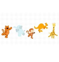 Jungle critters set vector image