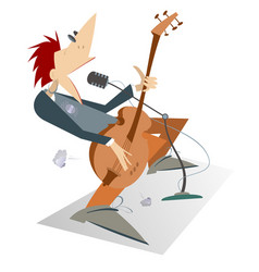 man is playing guitar isolated vector image vector image