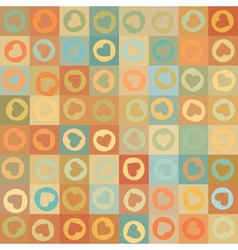 Retro seamless pattern with colorful hearts EPS 8 vector image vector image