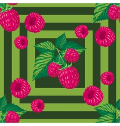 seamless pattern with branches of raspberry vector image