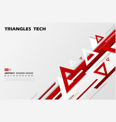 abstract gradient red triangles tech overlap vector image