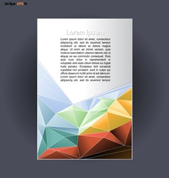 Abstract print A4 design with colored triangles vector
