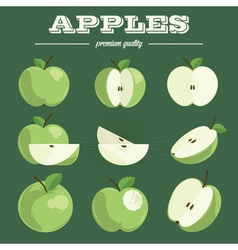 Apple sethand drawn apples vector