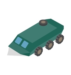 Armoured troop carrier wheeled icon vector image