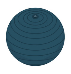 Balloon fitness isolated icon vector
