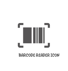 bar code reader icon simple flat style vector image