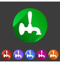Beer tap icon flat web sign symbol logo label vector