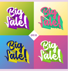 big sale 3d set vector image