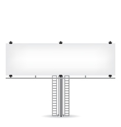 Blank metal billboard vector image