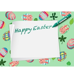 Border design with happy easter theme vector