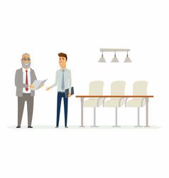business relationship - modern cartoon people vector image