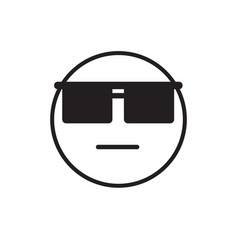 cartoon face wear sun glasses negative people vector image