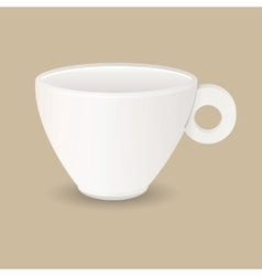 Ceramic coffee cup vector image