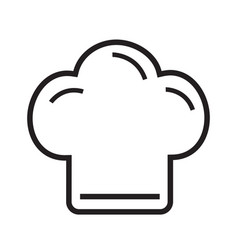 Chef hat icon line on white background vector