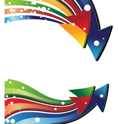 Colorful curved arrows vector