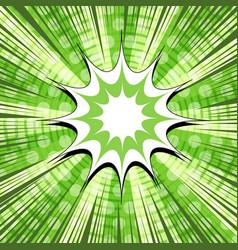 Comic page elegant green concept vector