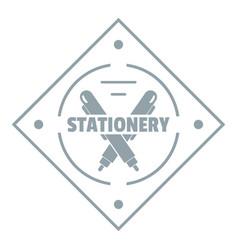 creativity stationery logo simple gray style vector image
