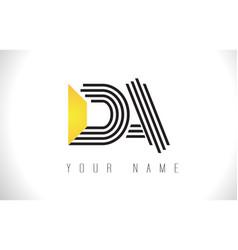 Da black lines letter logo creative line letters vector
