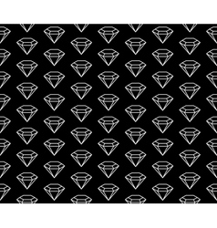 Diamonds pattern black and white vector