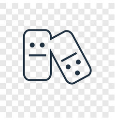 Domino concept linear icon isolated on vector