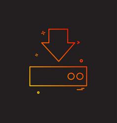 download icon design vector image