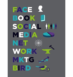 Face book Social Media Marketing vector