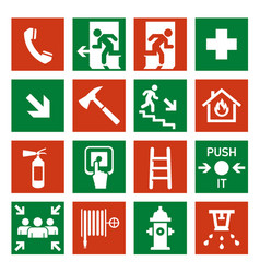 fire safety icon security alarm signs vector image