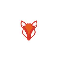 fox logo template vector image
