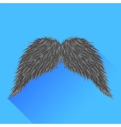 Grey Mustache vector