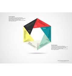 Hexagon infographic on light background vector