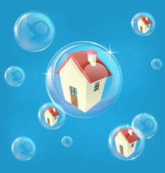 Housing bubble concept vector