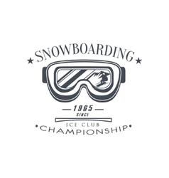 Ice Club Championship Emblem Design vector