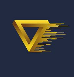 impossible geometric shape the penrose triangle vector image