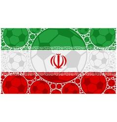 Iran soccer balls vector